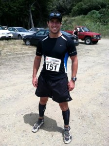 Double Dipsea 2011 - my first trail race.  Still wearing my North Face Single Tracks.
