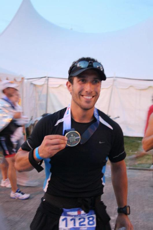 Happy to be done with the Ironman marathon