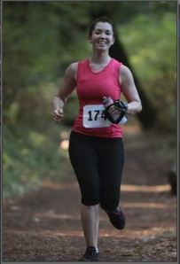 Smiling during my first trail race.