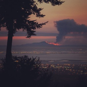 Mount Diablo: up in smoke.