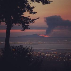 Mount Diablo: up in smoke.