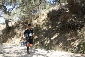 Taking third in my age group at the Big Sur Trail Marathon.  Can you spy the missing water bottle?