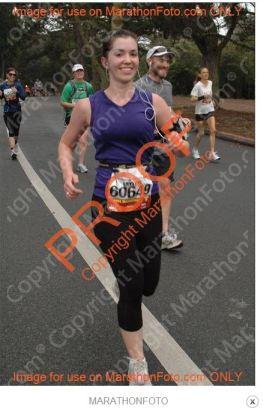 Running happy through Golden Gate Park during last year's SF Marathon.