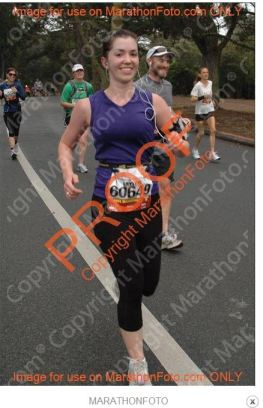 Running happy through Golden Gate Park during last year's SF Marathon.