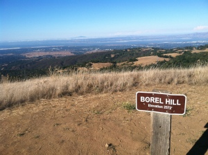 Borel Hill, with unvanquished Mt. Diablo menacing across the bay.