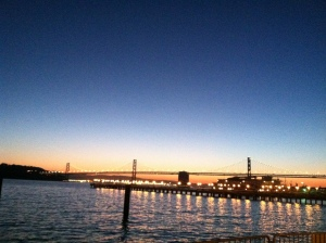 Beautiful sunrise over the Bay Bridge. Great way to start the day.