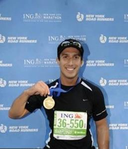 Jesse finished the New York City Marathon in 2011.