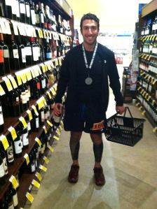 Jesse on the road to recovery after his 50-miler last December.