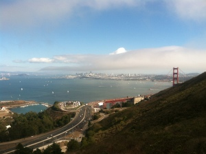 Beautiful view from the SCA Trail in Sausalito.