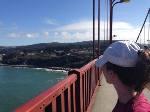 On the Golden Gate on the way to Marin.