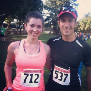 Jesse and I post-race.