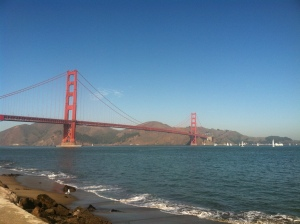 The seven-mile loop from our apartment to the bridge is the best.