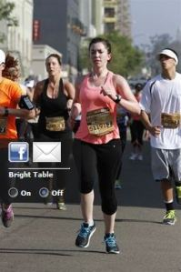 Sprinting to the finish line last year.