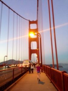 Golden Gate Bridge at dusk - the ultimate diversion.
