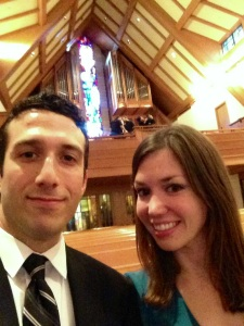 Church selfie pre-ceremony.