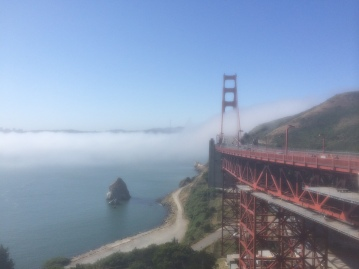 From the Vista Point on the Marin side of the bridge.