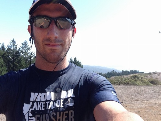 "Putting my ""finisher"" shirt to good use on the Dipsea trail"