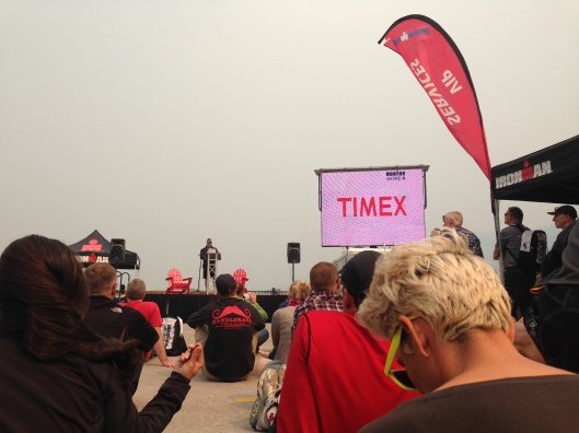 The athlete briefing. Not pictured - dozens of people wearing protective masks.