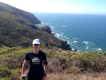 On the Coastal Trail, which looks a whole lot like Big Sur.