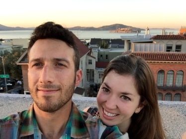 Completely unrelated: catching the sunset on our roof on Valentine's Day before sushi dunner.