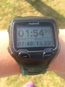 Finishing with a 7:48 pace. I really wanted to break 1:55!