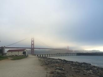 The bridge is peeking out.