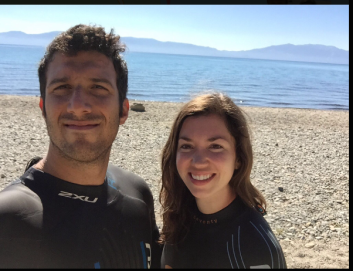 Wetsuits on and ready to swim!