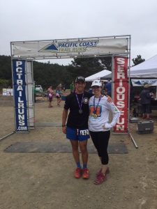 At the finish line at Salt Point.